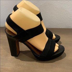 Authentic Donald J. Pliner black heels sandals 7.5